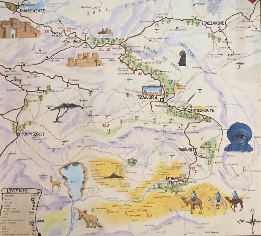 Landkarte Zagora