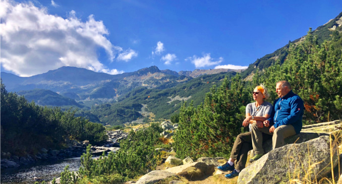 Auf 2000m Höhe im Piringebirge unterwegs