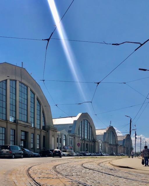 Die Markthallen in Riga